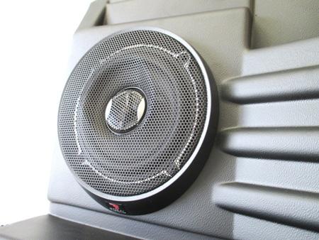 Rear speaker panels for Land Rover Defender
