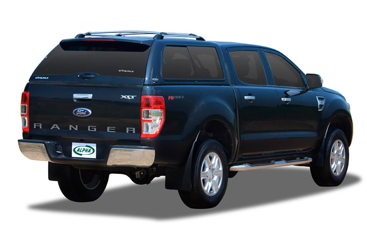 Fiberglass Alpha Canopy With Windows Double Cab For Ford Ranger