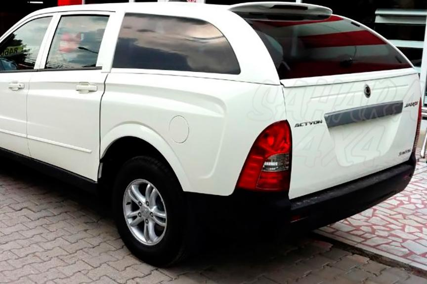 Hardtop Four Wheeler In Fiber With Windows For Ssangyong Actyon Sports
