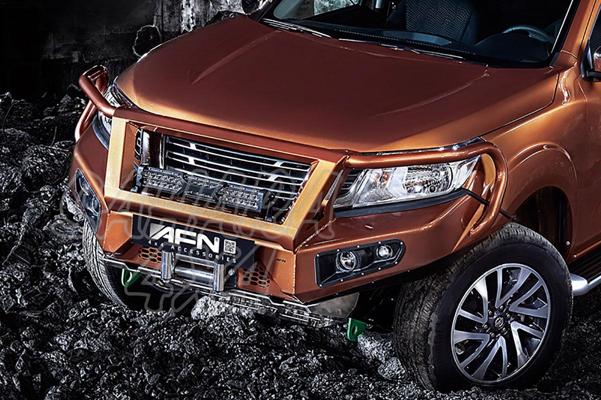 Front Bumper With Winch Mount And Lights For Nissan Navara D23