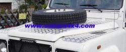 Soporte de rueda capó Defender 200 tdi, 300 tdi & Td5 - Soporte de rueda para el capó con chapa de aluminio