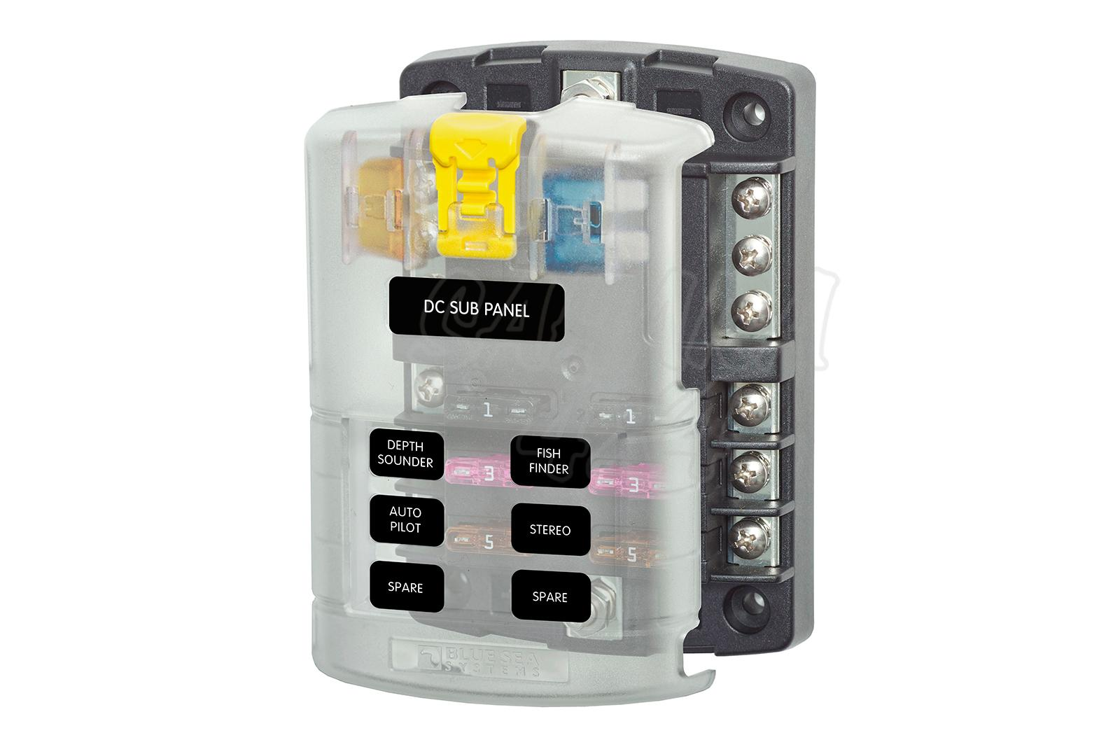 Blue Sea Systems Fuse Box - Suitable for 12V-32V installations.