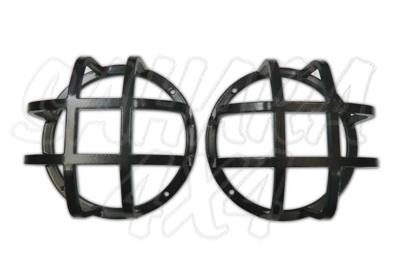 Front Kit 2 Pieces Rounded Lamp Guard Rear Fog Lamp Reverse Lamp