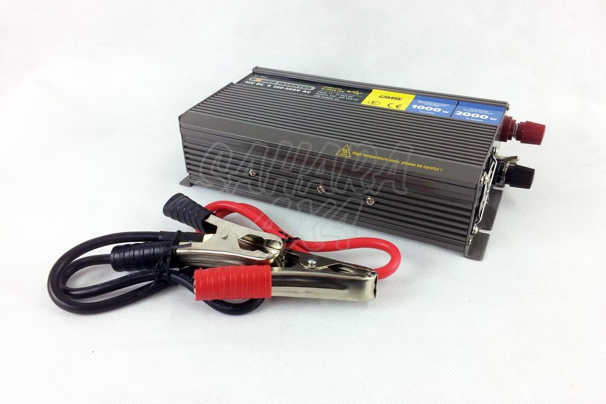Transformador de 12v a 220v 1000w continuo 2000w pico - Transformador 220v a 12v ...