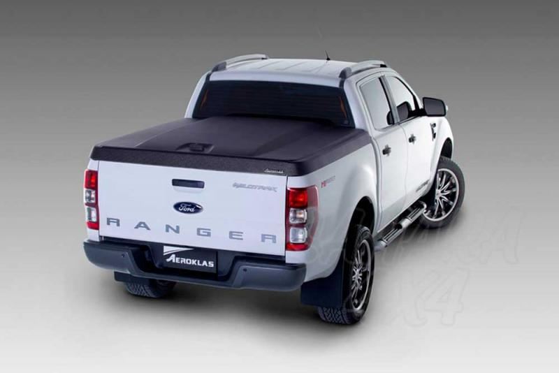 Cubierta plana AEROKLAS en ABS, acabado negro texturizado (doble cabina) para Ford Ranger 2012-