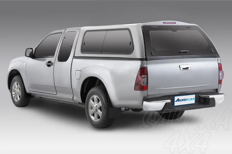 HardTop AEROKLAS en ABS, con ventanas para Nissan Navara D40 2005-2015 - Para Extra cabina