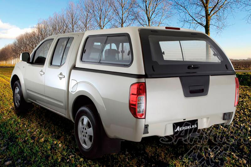 HardTop AEROKLAS en ABS, con ventanas para Nissan Navara D40 2005-2015 - Para Doble cabina