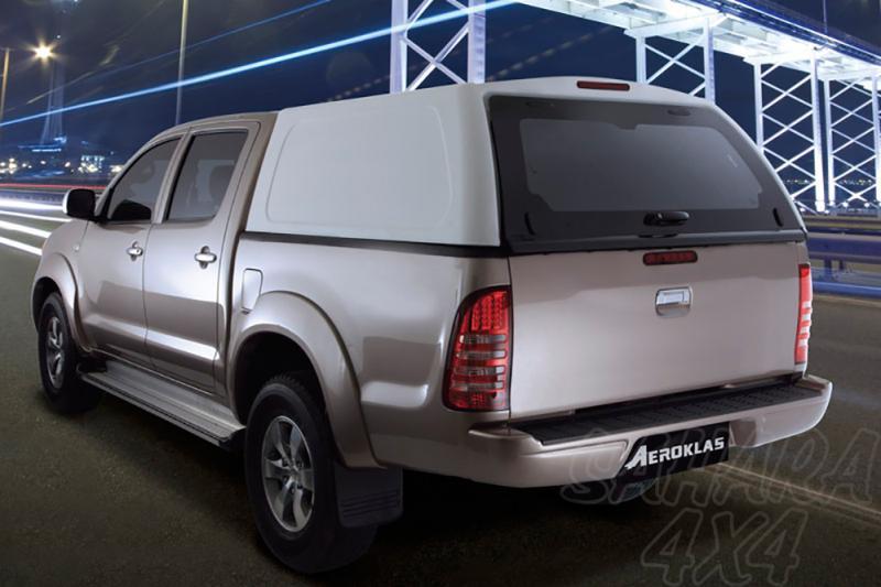 HardTop AEROKLAS en ABS, sin ventanas para Nissan Navara D40 2005-2015 - Para Doble cabina