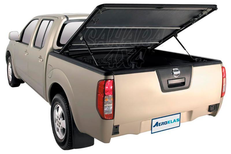 Toldo plano AEROKLAS de doble apertura 45º y enrollable para Nissan Navara D40 2005-2015 - Para Doble cabina