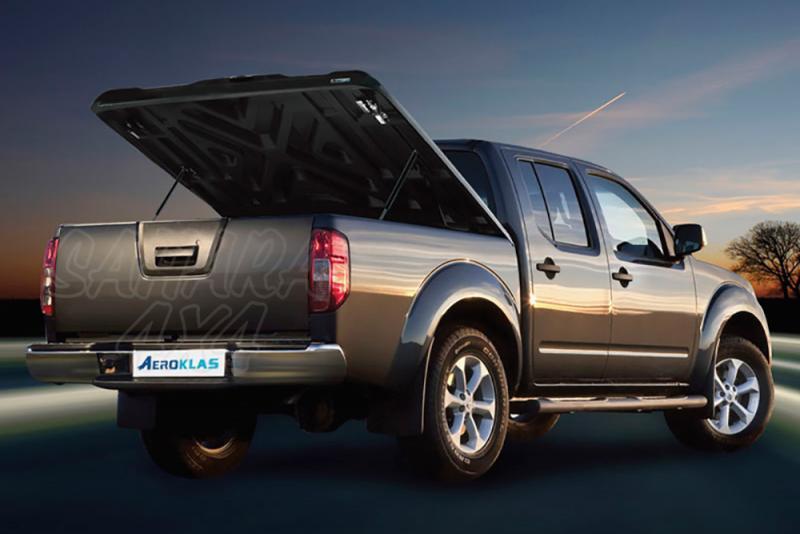 Cubierta plana AEROKLAS en ABS, acabado negro texturizado para Nissan Navara D40 2005-2015 - Para Doble cabina