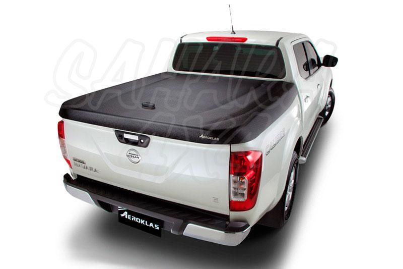 Cubierta plana AEROKLAS en ABS, acabado negro texturizado para Nissan Navara D23 - Para Doble cabina