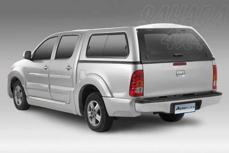HardTop AEROKLAS en ABS, con ventanas para Toyota Hilux Vigo 2005-2016 - Para Doble Cabina