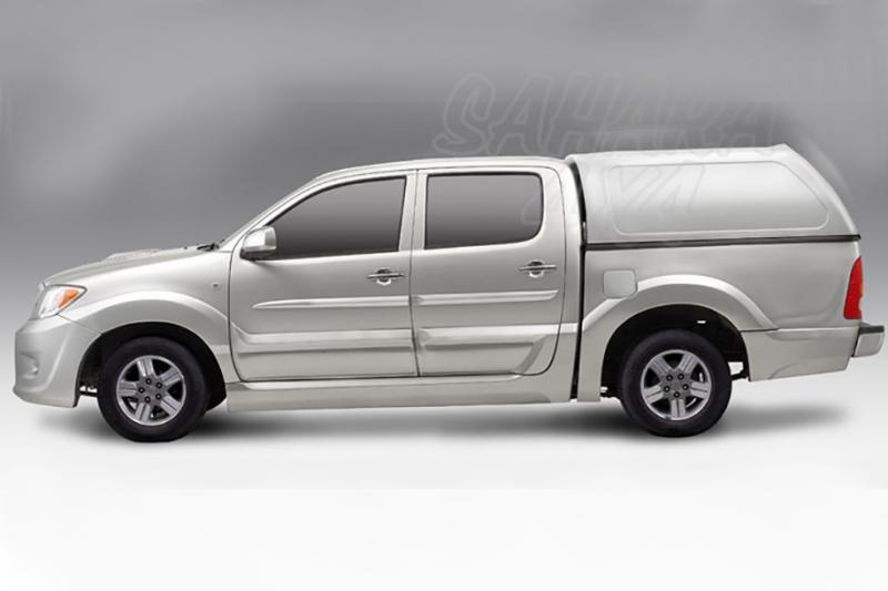 HardTop AEROKLAS en ABS, sin ventanas para Toyota Hilux Vigo 2005-2016 - Para Doble cabina
