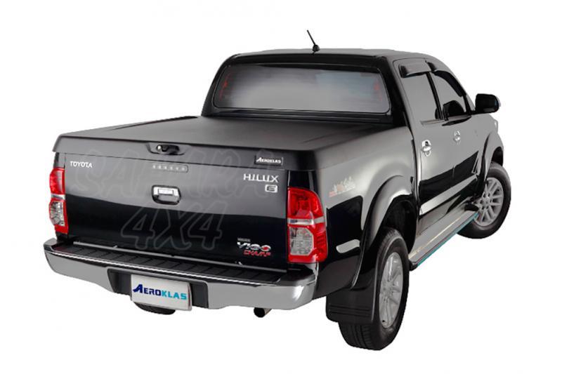 Cubierta plana AEROKLAS en ABS  para Toyota Hilux Vigo 2005-2016 - Para Doble cabina. Acabado negro texturizado