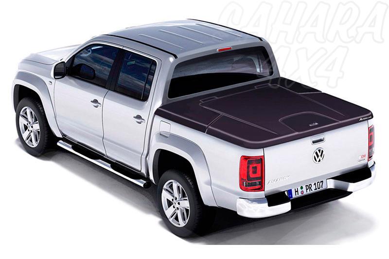 Cubierta plana AEROKLAS en ABS, acabado negro texturizado para Volkswagen Amarok 2010- - Para Doble cabina