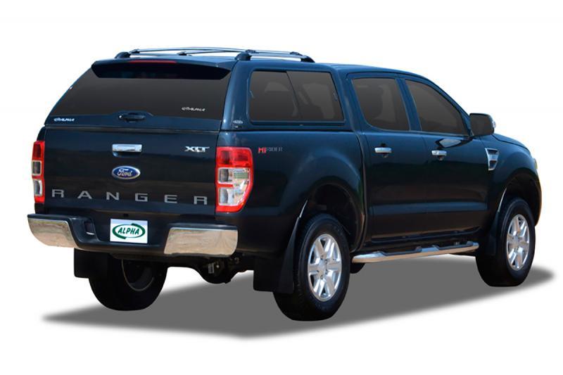 HardTop ALPHA en fibra, con ventanas (doble cabina) para Ford Ranger 2012- -