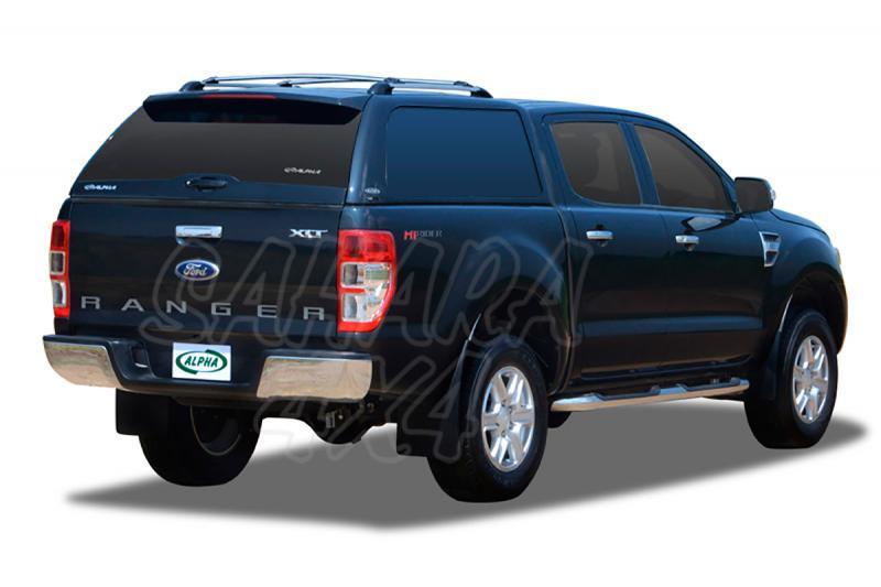HardTop ALPHA en fibra, sin ventanas (doble cabina) para Ford Ranger 2012- -