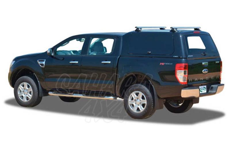 HardTop ALPHA CME en fibra, con portones laterales elevables en fibra (doble cabin para Ford Ranger