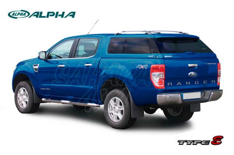 Hardtop ALPHA TYPE-E en fibra, con ventanas, imprimación (doble cabina) para Ford Ranger 2012- -