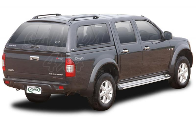 HardTop ALPHA en fibra, con ventanas (extra cabina) para cabina para Isuzu D-Max/Rodeo 02-12 - (imagen no contra actual)