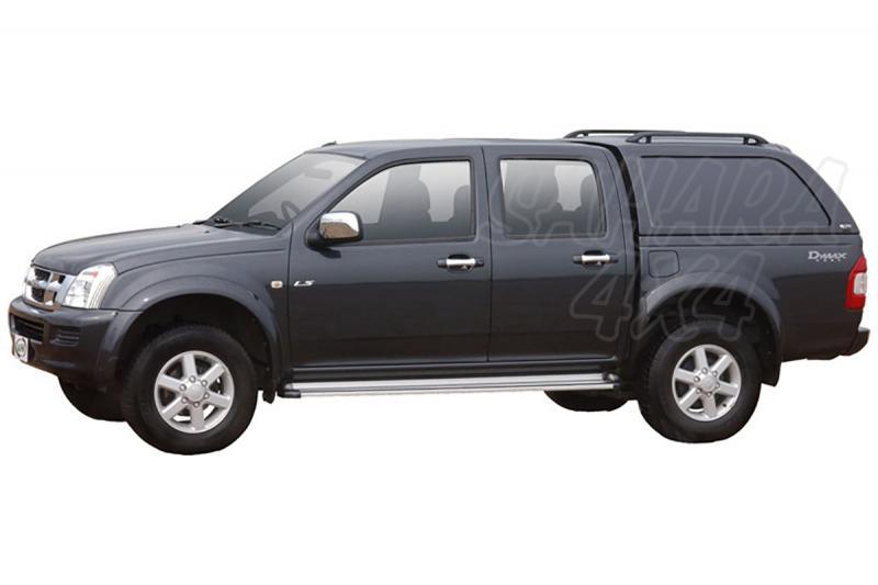 HardTop ALPHA en fibra, sin ventanas (doble cabina) para cabina para Isuzu D-Max/Rodeo 02-12 -