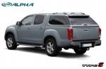 Hardtop ALPHA TYPE-E en fibra, con ventanas, imprimación (doble cabina) para Isuzu D-Max 2012- - Nota: * Referencia bajo pedido