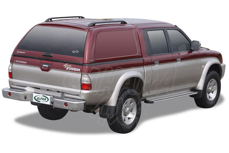 HardTop ALPHA en fibra, sin ventanas para Mitsubishi L-200 1996-2006 - Para Doble cabina.