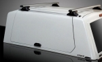 HardTop ALPHA CME en fibra, con portones laterales elevables en fibra (doble cabina) -