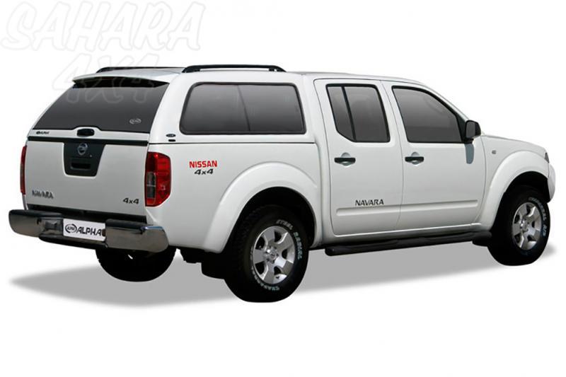 HardTop ALPHA en fibra, con ventanas para Nissan Navara D40 2005-2015 - Para Doble cabina