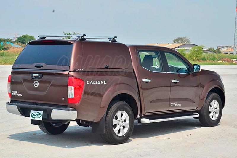 HardTop ALPHA CMX en fibra, con portones laterales (doble cabina) para Nissan Navara NP300 D23 2016- -