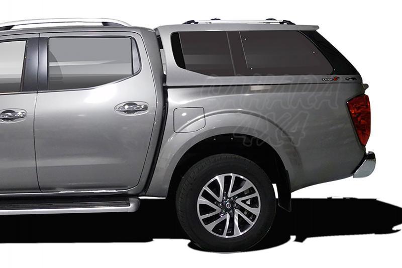 Hardtop ALPHA TYPE-E+ en fibra, con ventanas (doble cabina) para Nissan Navara NP300 D23 2016- - En imprimación.