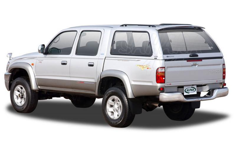 HardTop ALPHA en fibra, con ventanas para Toyota Hilux 1997-2005 - Para Doble cabina