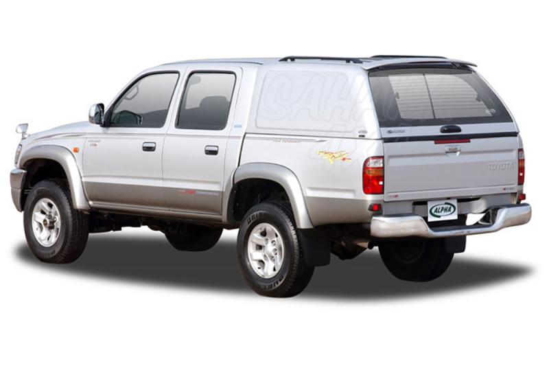 HardTop ALPHA en fibra, sin ventanas para Toyota Hilux 1997-2005 - Para Doble cabina
