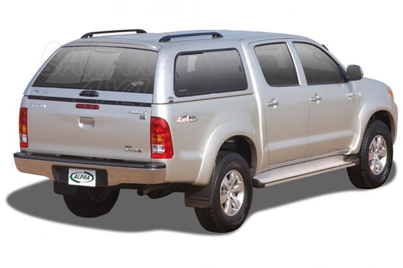 HardTop ALPHA en fibra, con ventanas para Toyota Hilux Vigo 2005-2016 - Para Doble cabina
