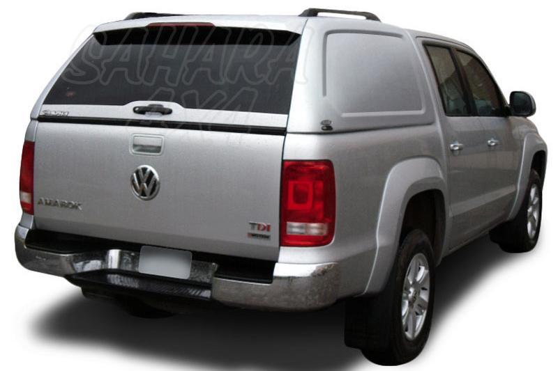 HardTop ALPHA en fibra, sin ventanas para Volkswagen Amarok 2010- - Para Doble cabina