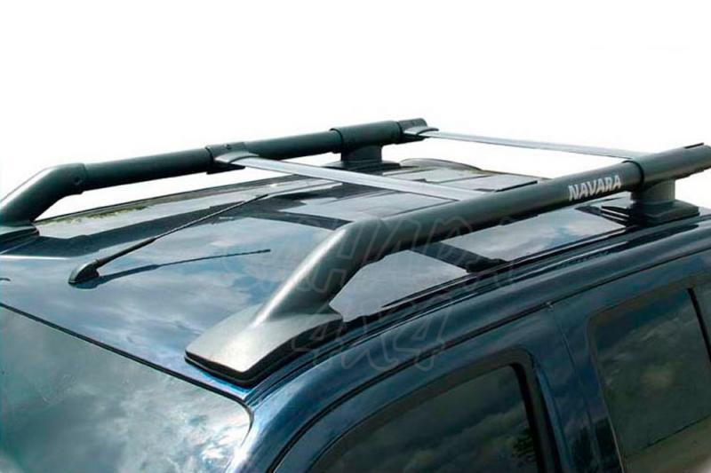 Barras de techo longitudinales tipo original Navara D40 - Solo para doble cabina