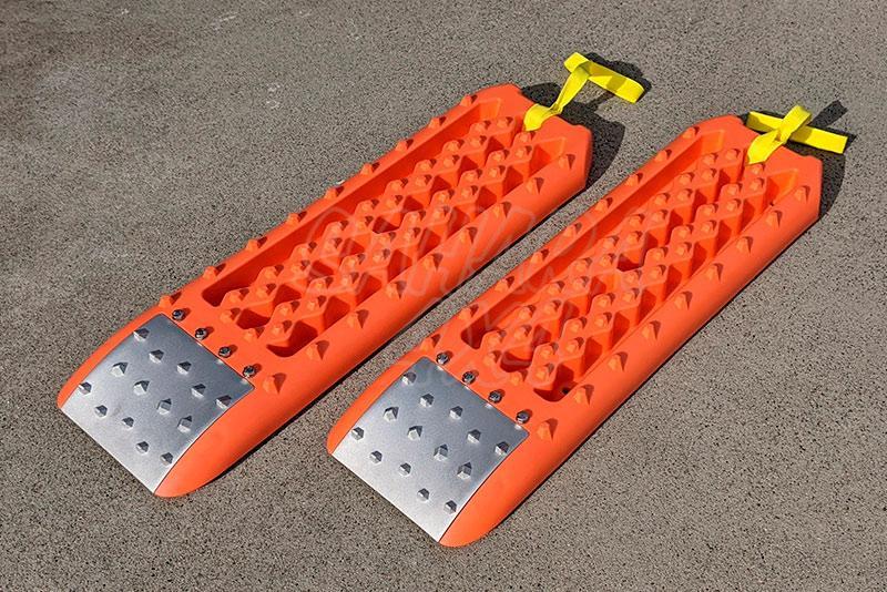 Pareja de Planchas híbridas en plastico con refuerzo de aluminio Four Wheeler (Naranja)