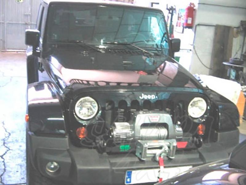 Base de cabestrante para instalar sobre paragolpes de origen para Jeep Wrangler JK 2007- - (Imagen no contra actual)