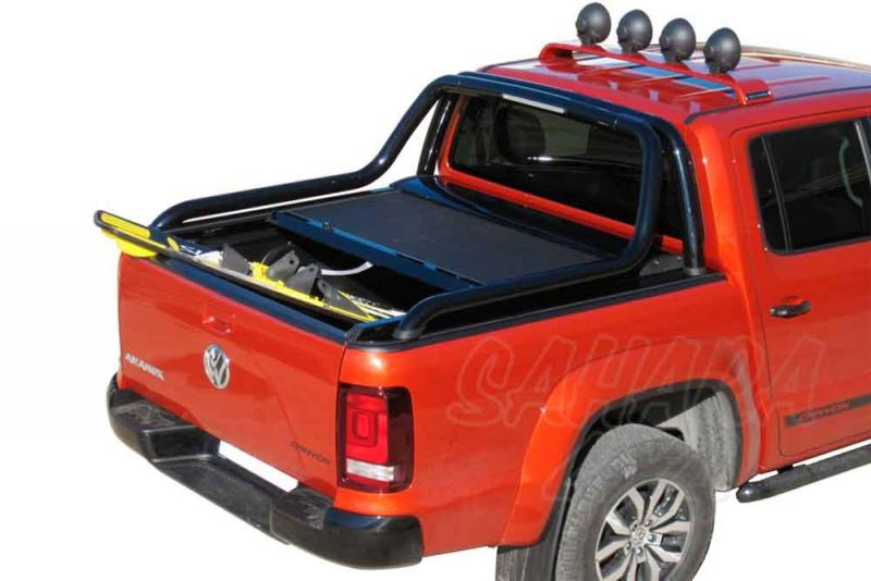 Persiana enrollable en aluminio, compatible con rollbar Canyon doble cabin Volkswagen Amarok 2010- - Para Doble cabina, compatible con rollbar inox Canyon