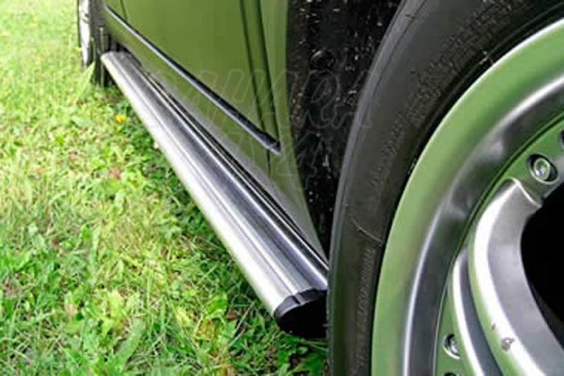 Estribos ovales en aluminio. Tipo S110 para Fiat Sedici 2005- y Suzuki SX4 2006-2013 -