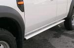 Estribos en plataforma de aluminio. Tipo S110 para Ford Ranger/Mazda BT-50 06-12 - Ford Ranger y Mazda BT50 2006-2012 (extra cabina)