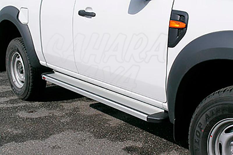Estribos en plataforma de aluminio. Tipo STD para Ford Ranger/Mazda BT-50 06-12 - Ford Ranger y Mazda BT50 2006-2012 (extra cabina)