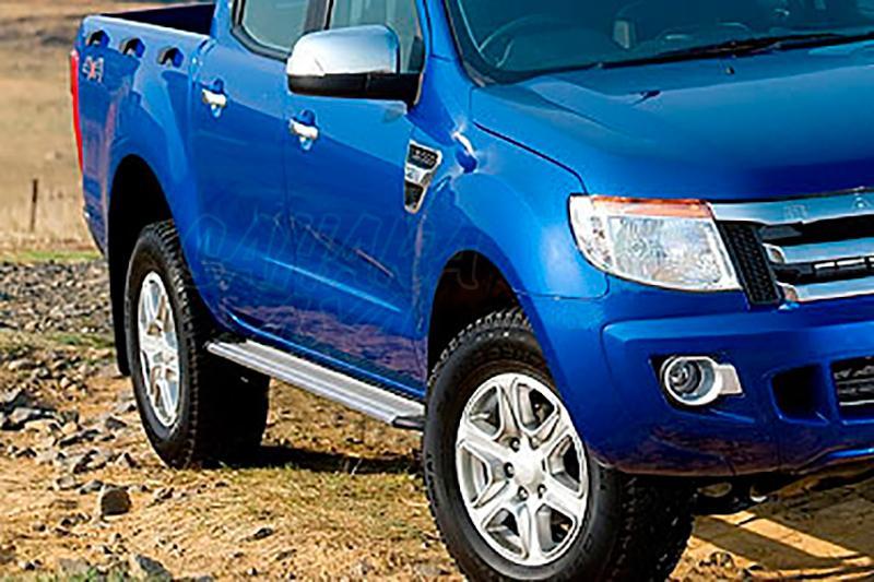 Estribos en plataforma de aluminio. Tipo S50 (double cab) para Ford Ranger 2012- -