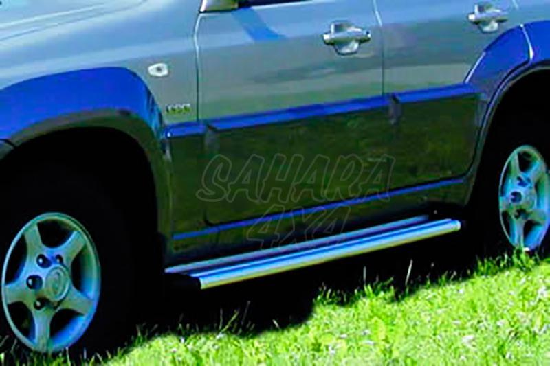 Estribos en plataforma de aluminio. Tipo S50 para Hyundai Terracan 2002-2005 -