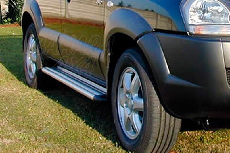 Estribos en plataforma de aluminio. Tipo S50 para Hyundai Tucson 2004-2010 -