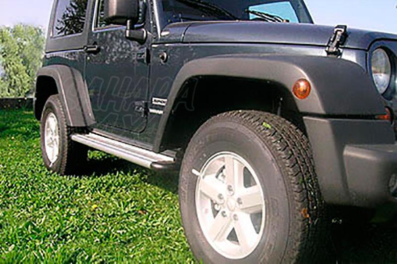 Estribos en plataforma de aluminio. Tipo S50 para Jeep Wrangler JK 2007- - Para Jeep Wrangler JK 2007- 3 puertas.