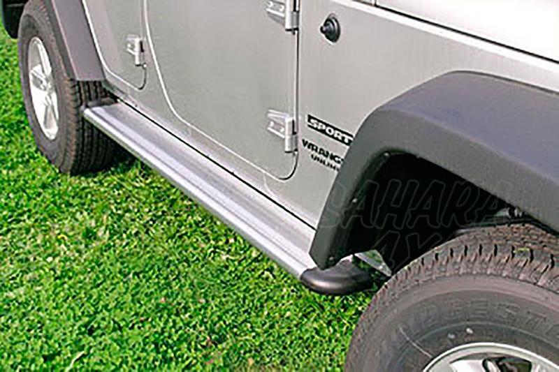 Estribos en plataforma de aluminio. Tipo S50 para Jeep Wrangler JK 2007- - Para Jeep Wrangler JK 2007- 5 puertas.