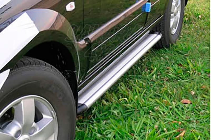 Estribos en plataforma de aluminio. Tipo S50 para Kia Sorento 2002-2009 -