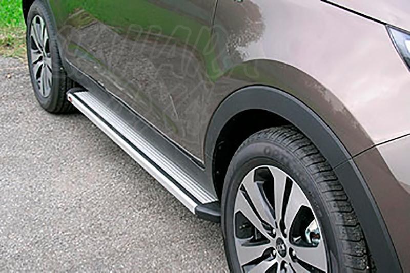 Estribos en plataforma de aluminio. Tipo STD para Kia Sportage 2010-2015 -