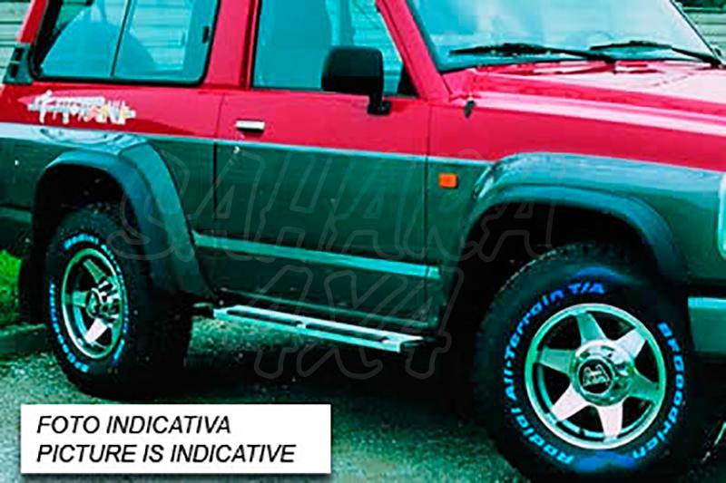 Juego de aletines en ABS (4 Piezas) para Nissan Patrol Y60 (3 puertas) 1988-1998 - Valido para Patrol Y60 1988-1998